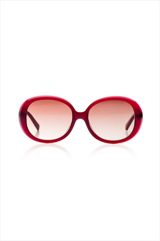 Jackie Burgundy Sunglasses