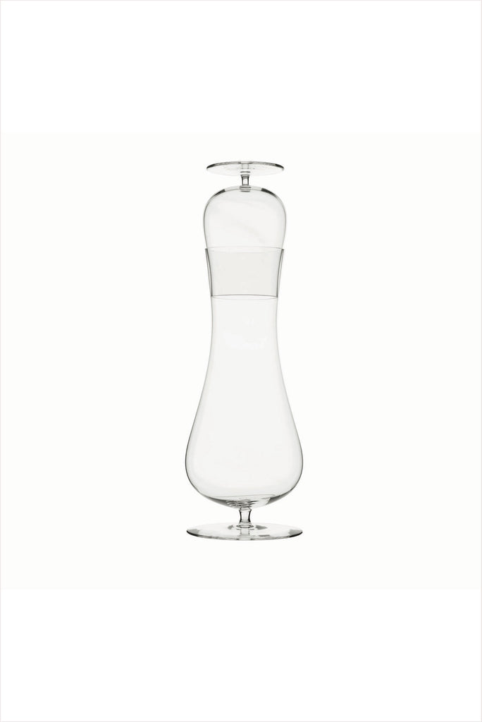 Monica Singer Josephine Decanter And Glass Clear