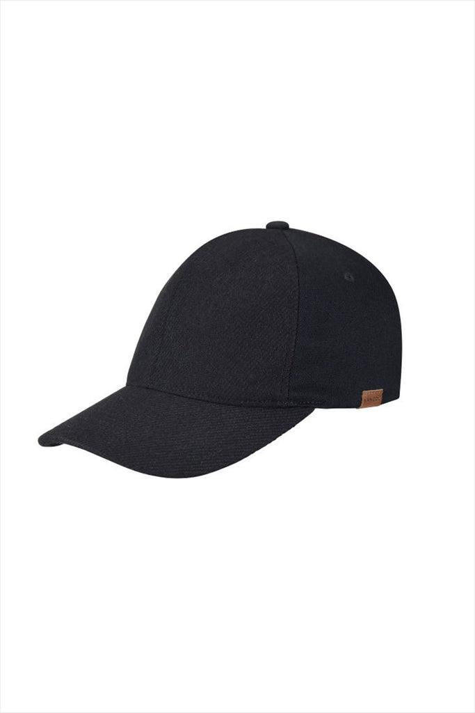 Kangol Textured Wool Baseball Hat Black