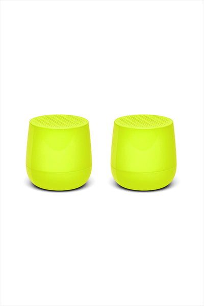 Twins Mino Bluetooth Speaker Yellow Fluorescent