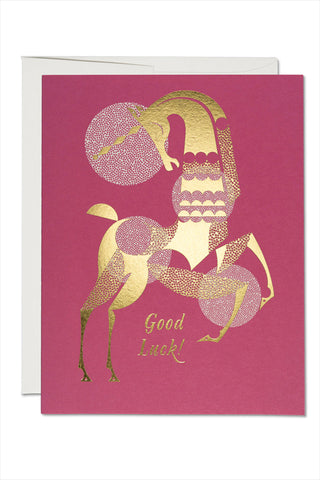 Good Luck Unicorn Card