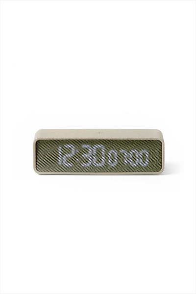 Oslo Time Alarm Clock Light Grey Khaki