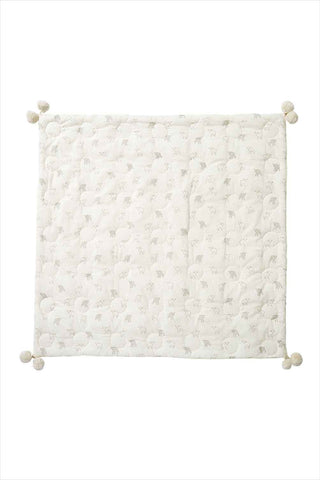 Little Lamb Quilted Pom Pom Blanket