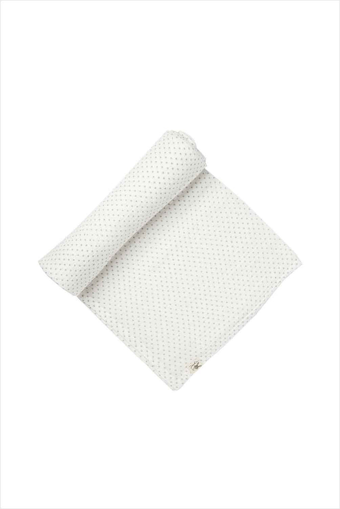 Swaddle Pin Dot Gray Organic