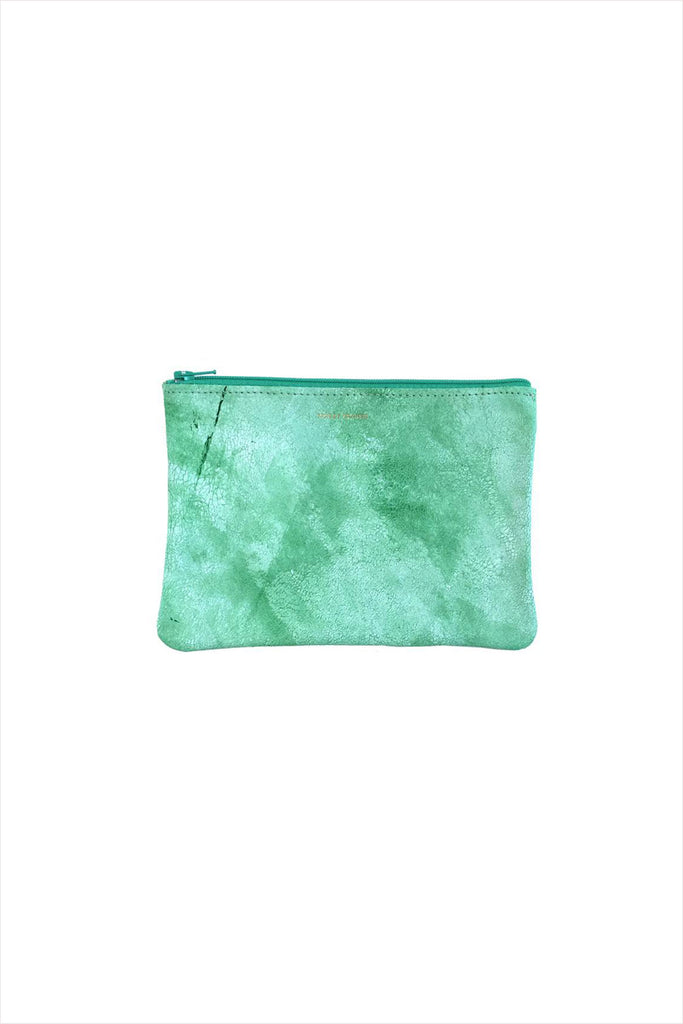 Tracey Tanner White Wash Zip Medium Spearmint