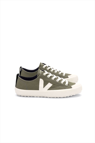 Veja Adult Mens Nova Canvas Shoe Kaki Pierre