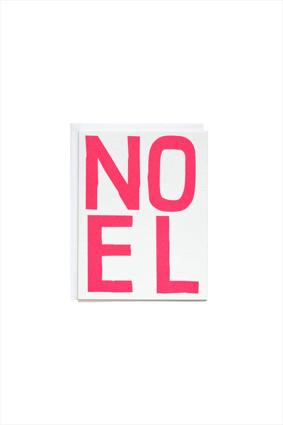 NOEL in Neon Pink Holiday