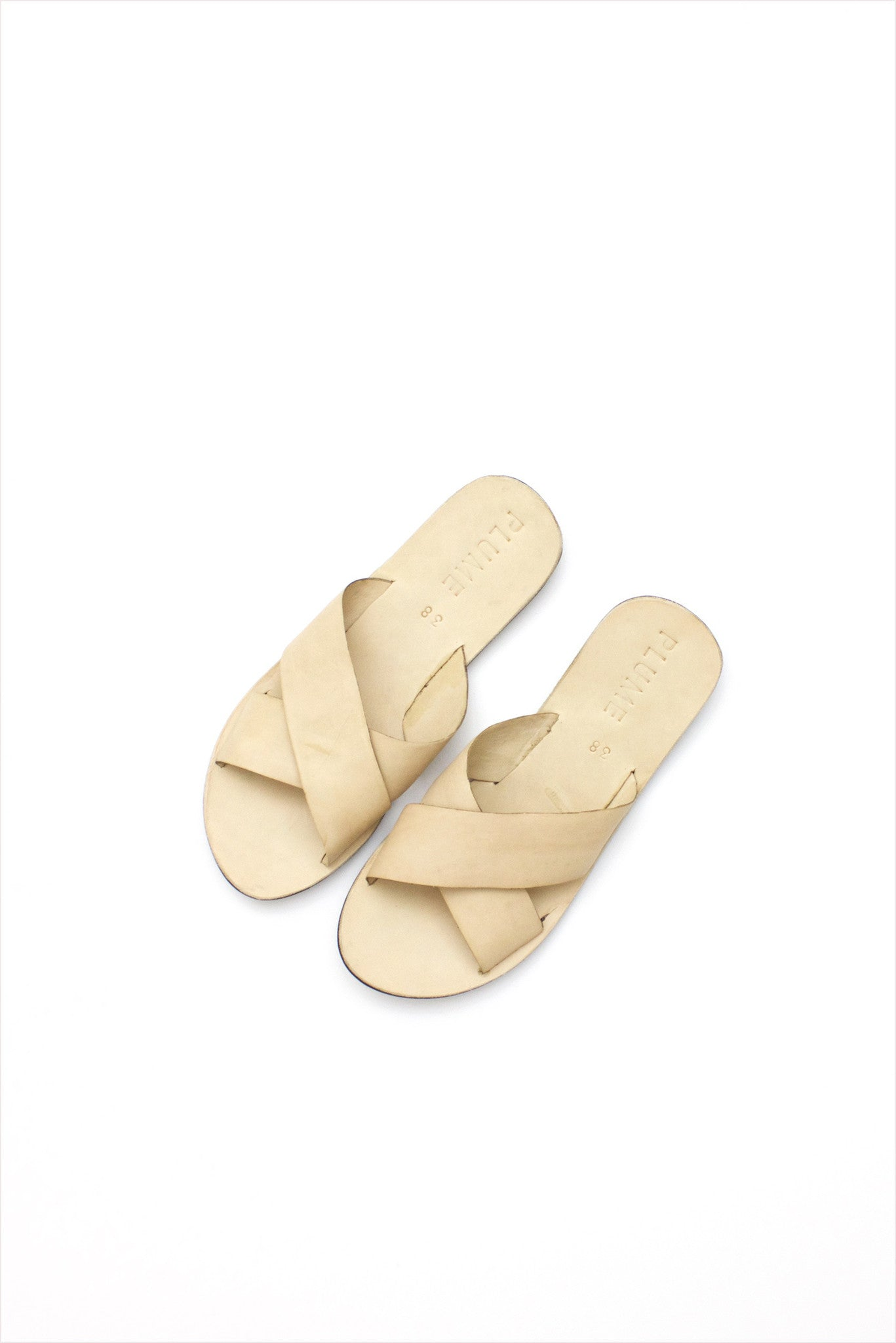 Plume Cross Strap Sandals