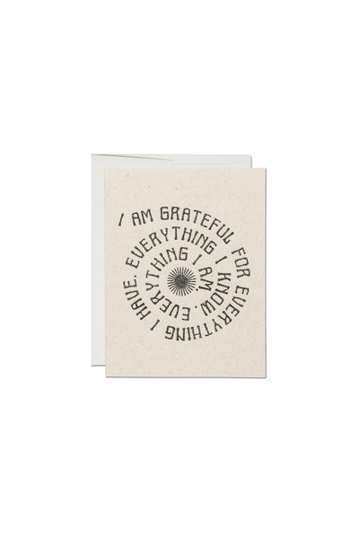 Grateful For Everything Thank You Card