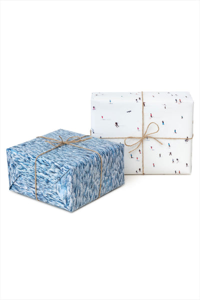 Snow Holiday Gift Wrap Set