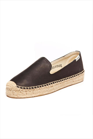 Soludos Leather Smoking Slipper