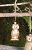 Sparkling Woodland Owl Ornaments