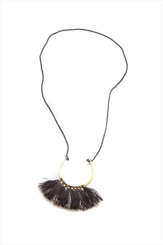 Ornament Necklace Black