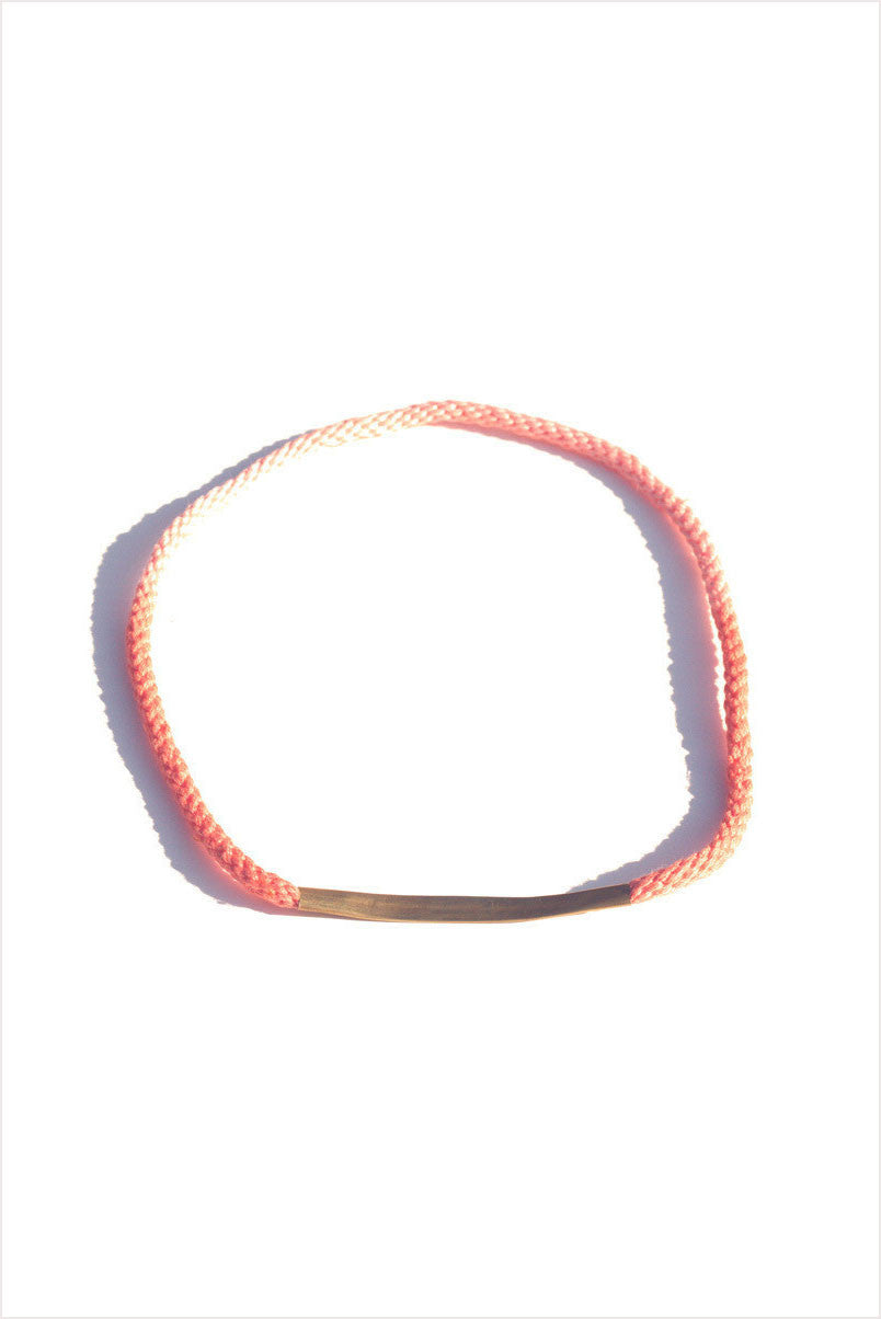 Bar Necklace Coral