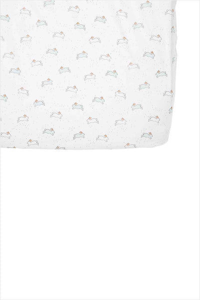 Crib Sheet Tiny Bunny Organic