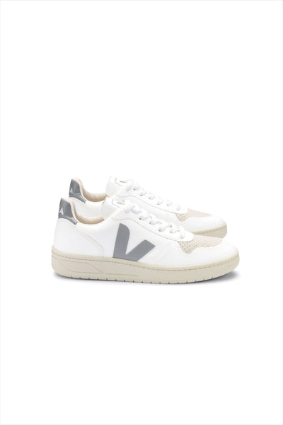 Veja Adult Mens V-10 CWL White Oxford Grey