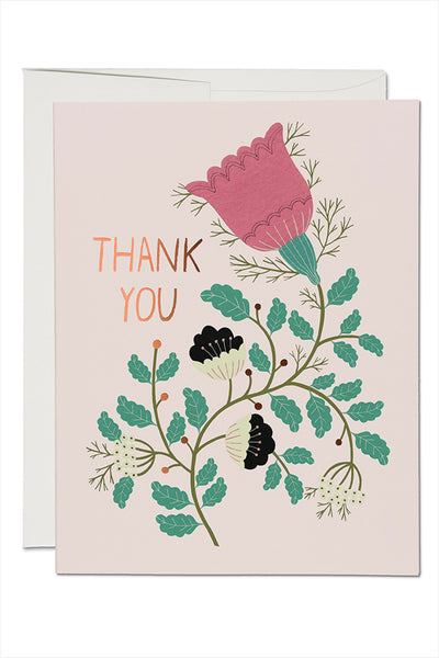 Lovely Tulips Thank You Card