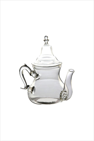 Moroccan Clear Glass Teapot