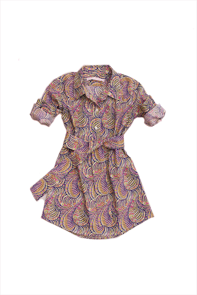 Liberty Print Tailored Shirt Dress