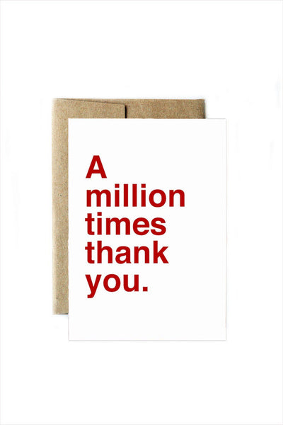 A Million Times Thank You