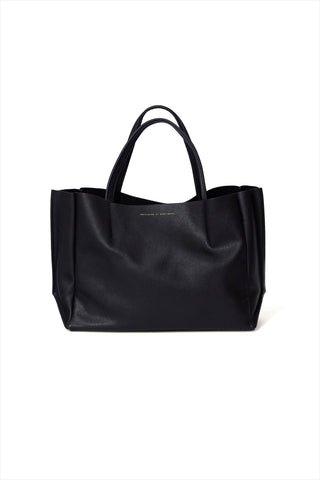 Sideways Tote Black Luxury