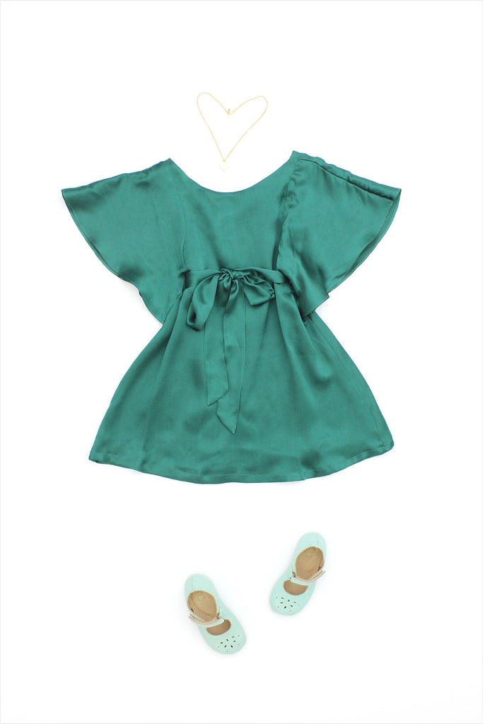 Angel Dress Green Silk