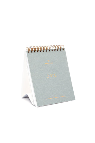 2018 Desk Calendar Dove Grey