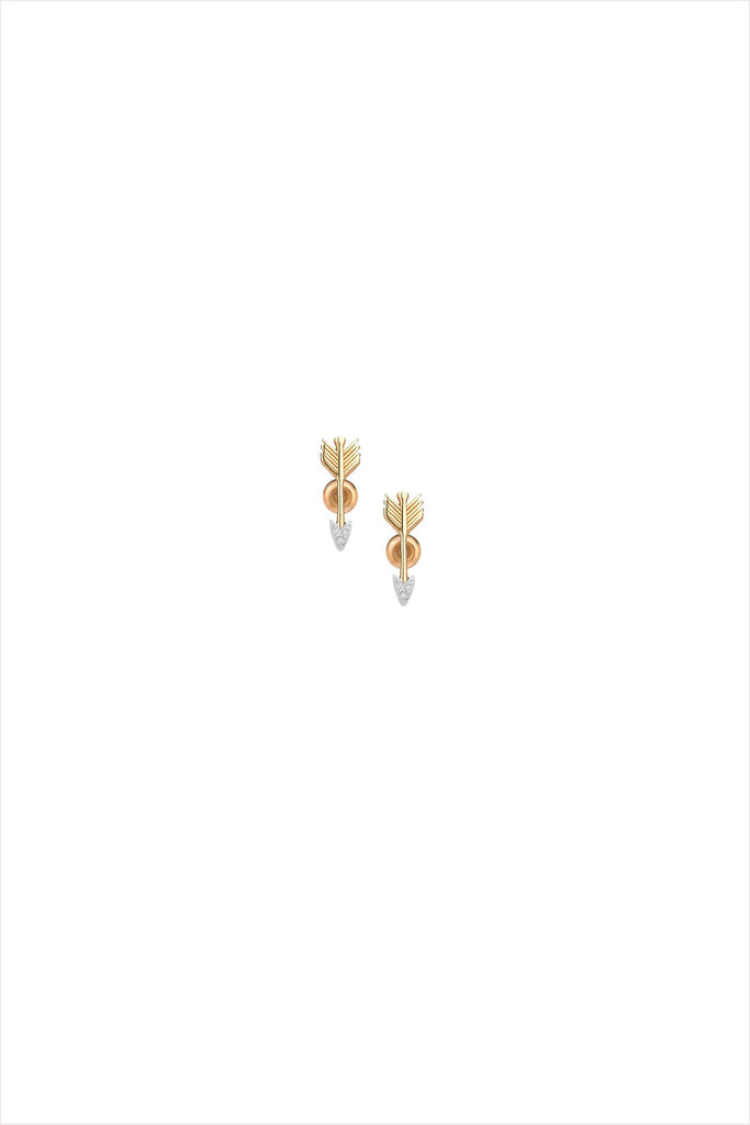 Arrow Earrings Yellow Gold