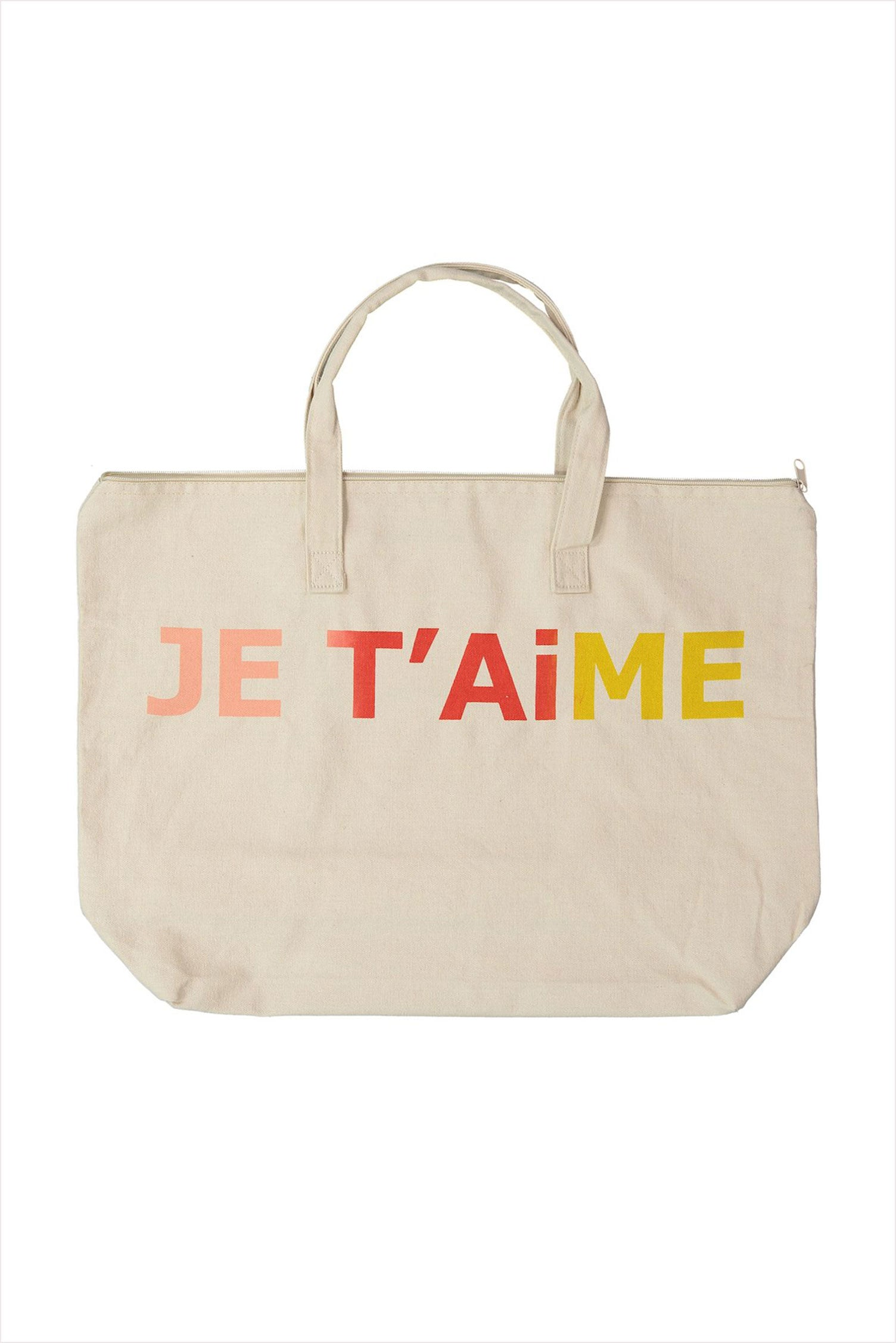 Je T'aime Canvas Bag With Zip