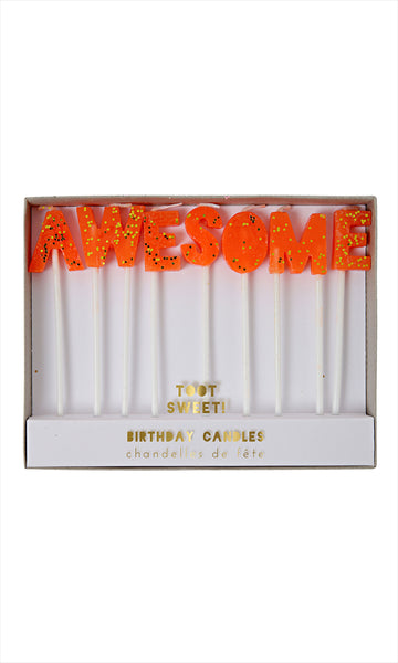 Awesome Birthday Candle