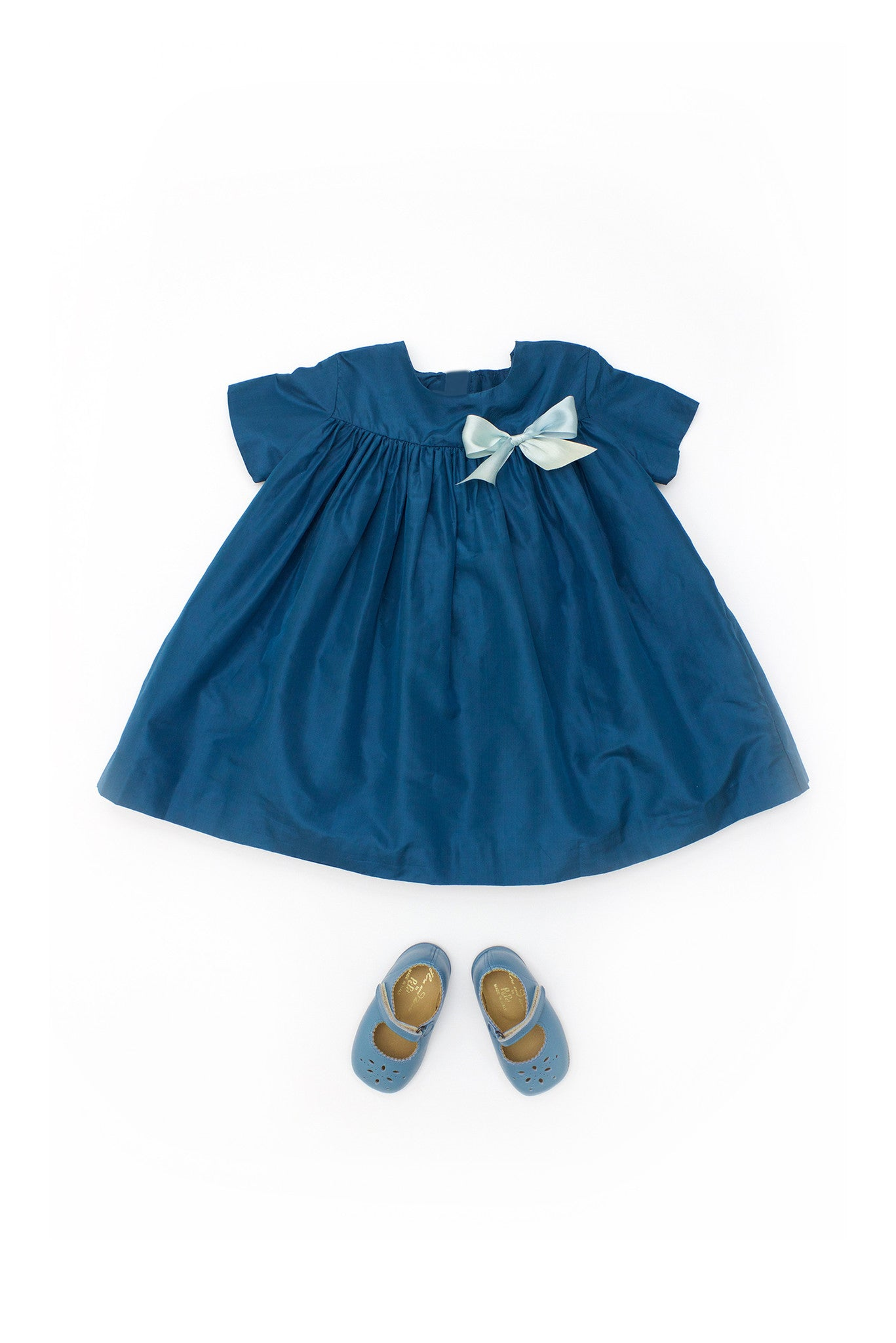 Baby Teal Puff Party Dress