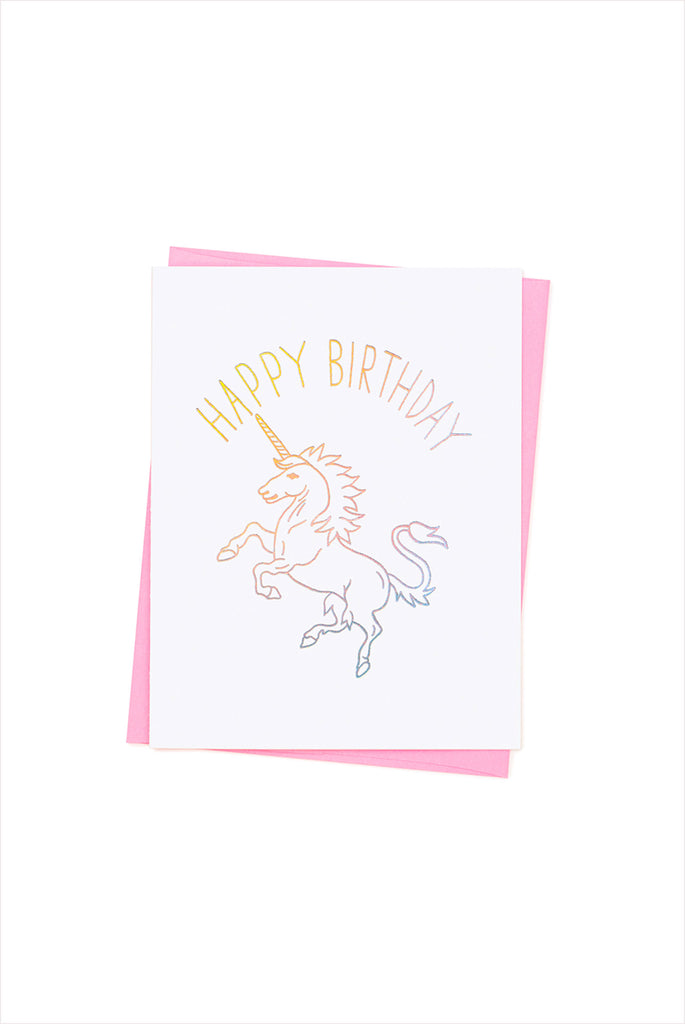 Happy Birthday Unicorn Card Flora And Henri
