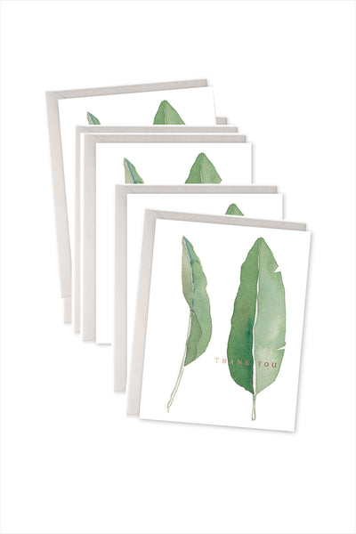 Leaves Thank You Card Boxed Set Of 6