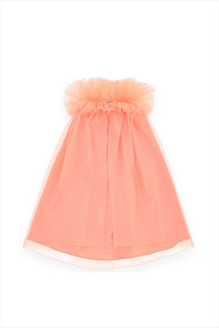 Cotton And Tulle Cape Melon