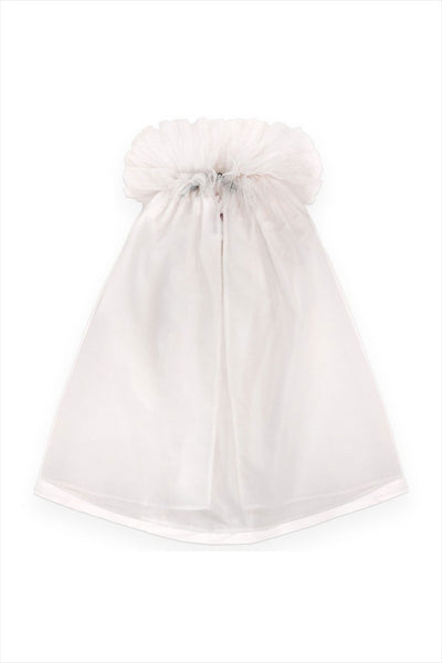 Cotton And Tulle Cape White