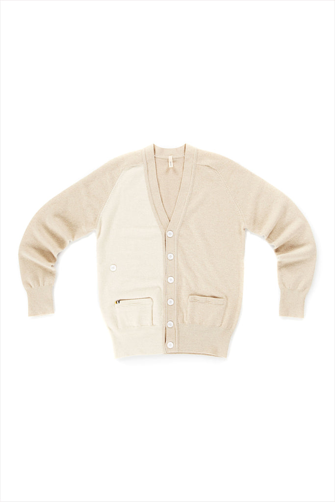 Extreme Cashmere n°117 Cardigan Latte Two Tone