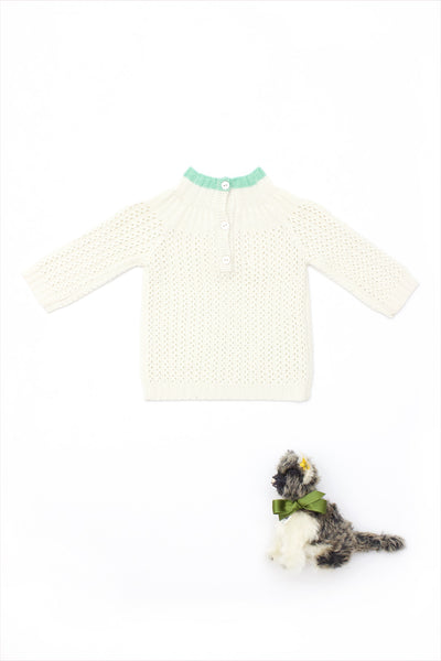 Cashmere Yoke Pullover Sweater