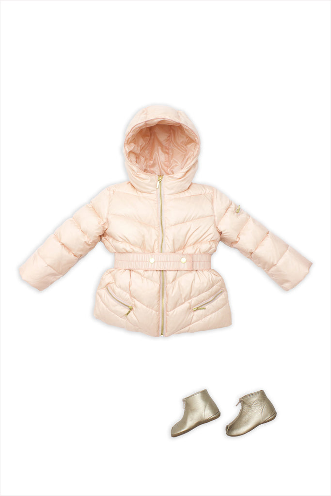 Chevron Short Puffer
