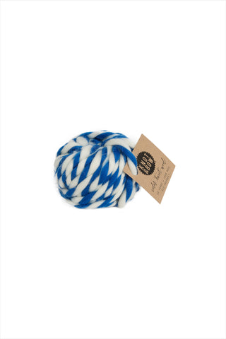 Cobalt Twist Wool Ball