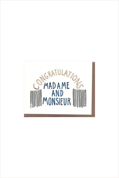Madame & Monsieur Card