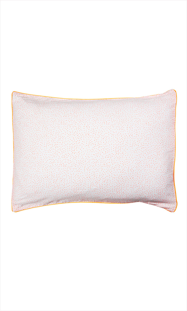 Coral Dot Pillowcase