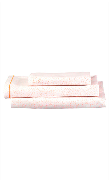 Coral Dot Twin Sheet Set