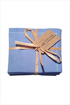 Cotton Cocktail Napkin Sea Blue