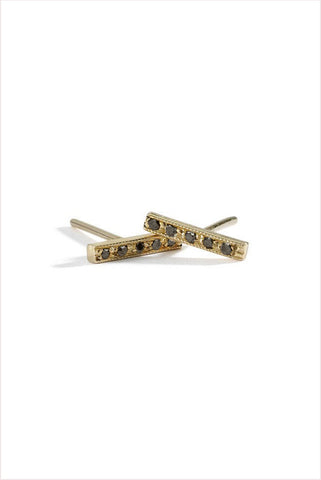 Dainty Diamond Bar Studs