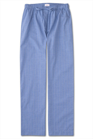 Derek Rose Men's Lounge Pant Felsted Blue