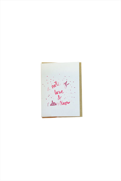 Lil' Note of Love & Devotion Card