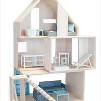 European Wooden Dollhouse