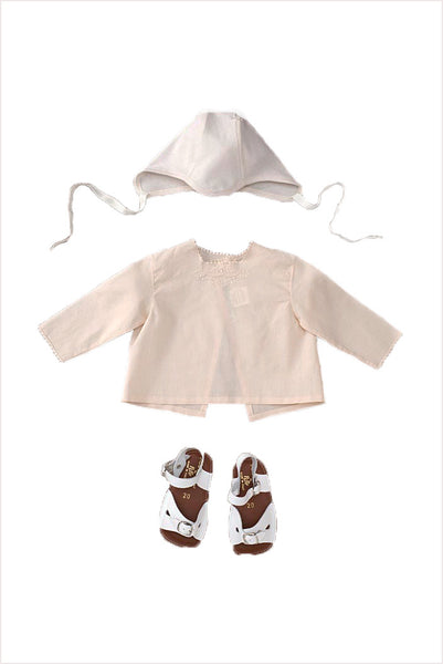 Embroidered Baby Blouse Set Tea