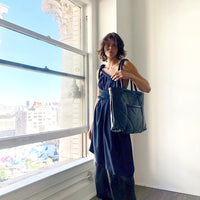 Electric Feathers Enano Calfskin Tote Navy