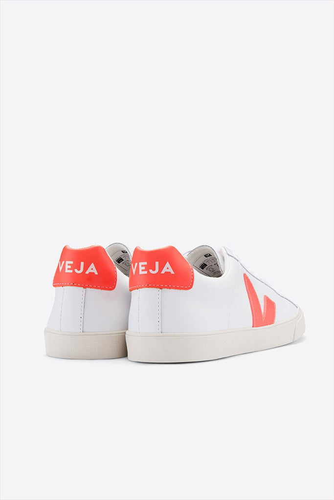 Veja Adult Mens Esplar Low Suede Extra White Fluorescent Orange